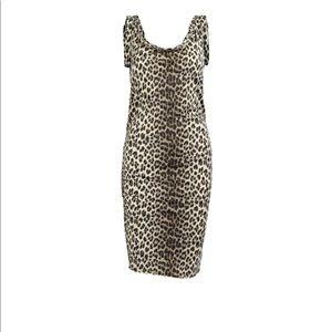 Lanvin Dresses - LANVIN swim style leopard dress rouched at hips